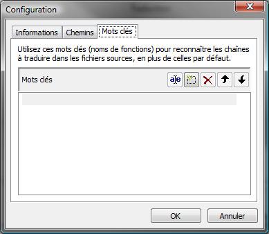Poedit : Informations sur les mots-clés permettant d'identifier les chaînes de caractères