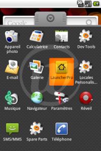 LauncherPro : Application