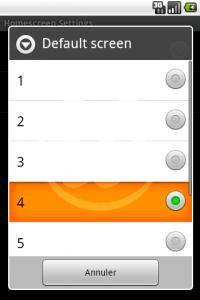 LauncherPro : Homescreen par défaut