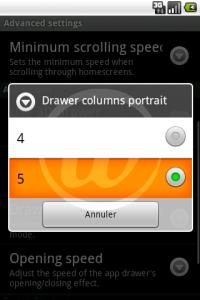 LauncherPro : Mode Portrait