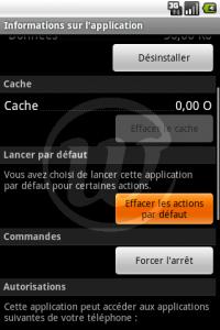 LauncherPro : Effacer les actions par défaut