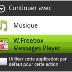 Continuer avec W.Freebox Messages Player