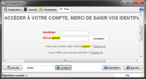 Interface de gestion Freebox