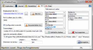 Configuration VLC