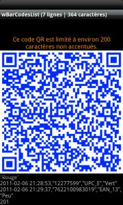 Génération de codes QR