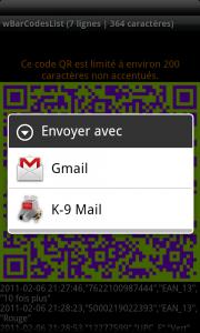 Envoie d'emails