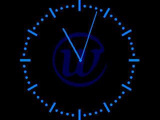 Horloge analogique sans les secondes