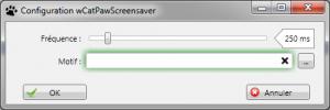 Configuration de wCatPawScreensaver