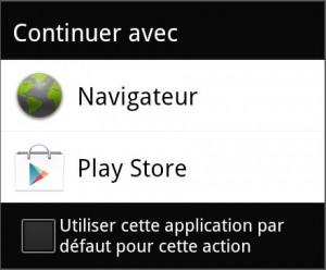 Ouverture d'un lien depuis un Android