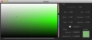 wColor avec Mac OS X