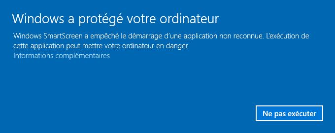Windows a protégé votre ordinateur
